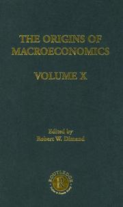 Cover of: Origins of Macroeconomics, Volume Ten by Robert Dimand