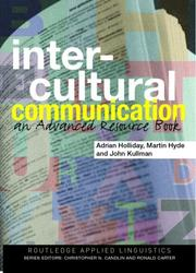 Cover of: Intercultural communication | Adrian Holliday