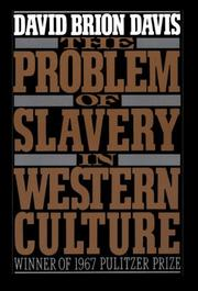 Cover of: The problem of slavery in Western culture by David Brion Davis