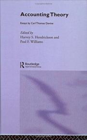 Cover of: Accounting Theory by Paul Williams