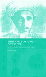 Cover of: Sufis and scholars of the sea by Anne K. Bang