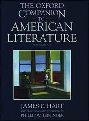 Cover of: The Oxford companion to American literature | James David Hart