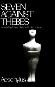 Cover of: Seven against Thebes | Aeschylus
