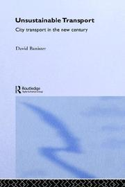 Cover of: Unsustainable transport by David Banister