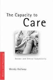 Cover of: The Capacity to Care | Holloway