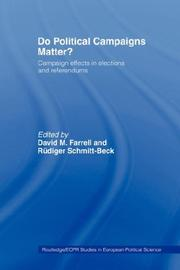 Cover of: Do Political Campaigns Matter? | David Farrell