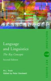 Cover of: Language and Linguistics | R.L. Trask