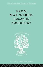 Cover of: From Max Weber | H.H.; Wr Gerth