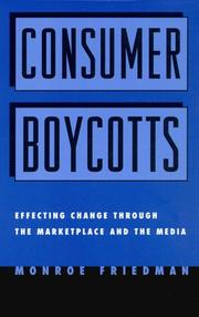 Cover of: Consumer Boycotts by Monroe Friedman