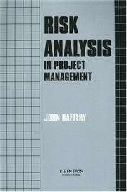 Cover of: Risk analysis in project management | John Raftery