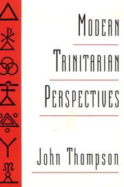 Cover of: Modern trinitarian perspectives | Thompson, John