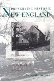 Cover of: Preserving historic New England by James Michael Lindgren