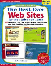 Cover of: The Best-Ever Web Sites for the Topics You Teach (Grades 4-8) | Roberta Salvador