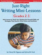 Cover of: Just Right Writing Lessons | Cheryl Sigmon