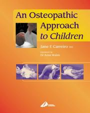 Cover of: An Osteopathic Approach to Children | Jane Elizabeth Carreiro