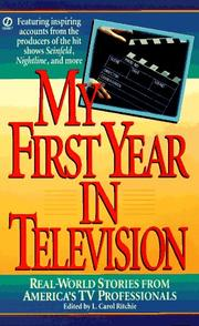 Cover of: My First Year in Television by L. Carol Ritchie
