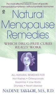 Cover of: Natural menopause remedies | Nadine Taylor