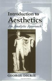Cover of: Introduction to Aesthetics | George Dickie