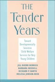 Cover of: The Tender Years by Richard P. Barth