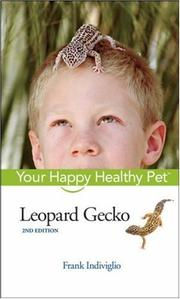 Cover of: Leopard Gecko by Frank Indiviglio