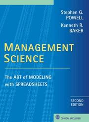 Cover of: Management science | Stephen G. Powell