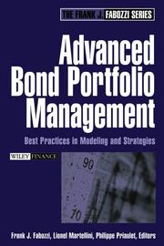 Cover of: Advanced Bond Portfolio Management | Frank J. Fabozzi
