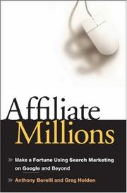 Cover of: Affiliate Millions | Greg Holden