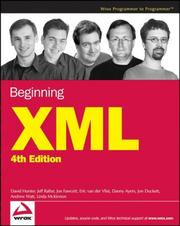 Cover of: Beginning XML, 4th Edition (Programmer to Programmer) | Jon Duckett