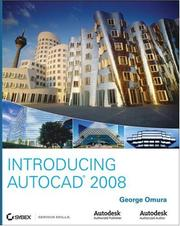 Cover of: Introducing AutoCAD 2008 by George Omura