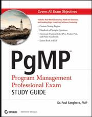 Cover of: PgMP by Paul Sanghera