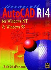 Cover of: Beginning AutoCAD release 14 for Windows NT and Windows 95 | Robert McFarlane