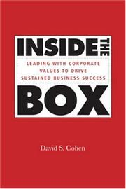 Cover of: Inside the Box | David S. Cohen
