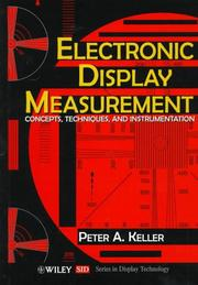 Cover of: Electronic display measurement by Peter A. Keller