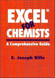 Cover of: Excel for chemists | E. Joseph Billo