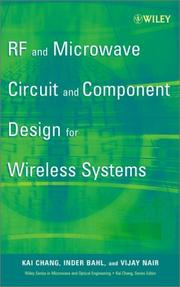 Cover of: RF & Microwave Circuit Design for Wireless Applicatons by Rob Thallon