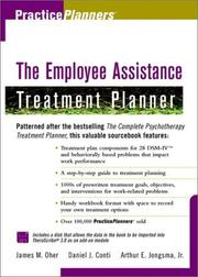 Cover of: The employee assistance treatment planner | James M. Oher