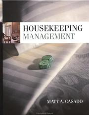 Cover of: Housekeeping management | Matt A. Casado