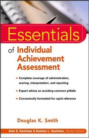 Cover of: Essentials of Individual Achievement Assessment (Essentials of Psychological Assessment Series) by Douglas K. Smith