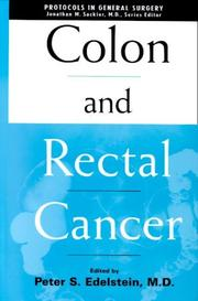 Cover of: Colon and Rectal Cancer by Peter S. Edelstein