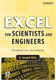 Cover of: Excel for Scientists and Engineers | E. Joseph Billo