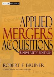 Cover of: Applied Mergers and Acquisitions | Robert F. Bruner