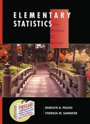 Cover of: Elementary statistics by Marilyn K. Pelosi