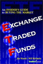 Cover of: Exchange traded funds | Jim Wiandt