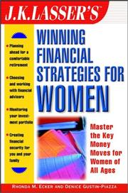 Cover of: J.K. Lasser's winning financial strategies for women | Rhonda M. Ecker
