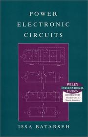 Cover of: Power Electronic Circuits | I. Batarseh