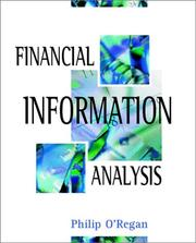 Cover of: Financial Information Analysis | Philip O'Regan