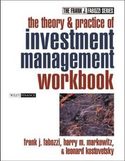 Cover of: The Theory and Practice of Investment Management Workbook | Frank J. Fabozzi