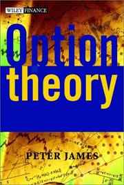 Cover of: Option Theory | Peter James