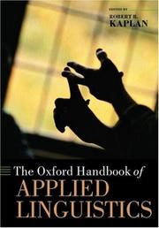 Cover of: The Oxford Handbook of Applied Linguistics by Robert B. Kaplan