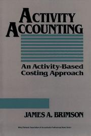 Cover of: Activity accounting | James A. Brimson